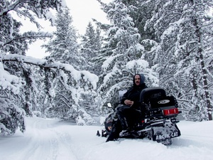 Snowmobiling in Paradise Michigan